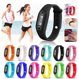 Run Step Watch Bracelet Pedometer Calorie Counter Digital LCD Walking Distance Perfect Gifts
