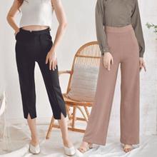 PANTS STRIPES TROUSERS Long Pants / Office Pants / Culottes / Batwing Pants