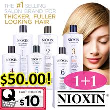 ⭐️ 1+1 FREE SHIPPING! ⭐️ NIOXIN Professional Salon-Exclusive Shampoo/Conditioners 1000ml.