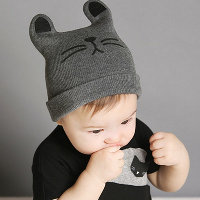 Men and women infant and children hats baby cotton Hat child warm hat cat  wool hats 8985dedd9