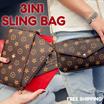 READY STOCK - 3 IN 1 Sling Bag Shoulder Bag Dan European Style Sling Bag -Tas Slempang - GOOD QUALIT