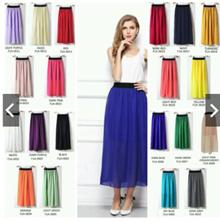 20 Colors (🇲🇾Ready Stock) Womens Stretch High Waist Maxi Skirts Skirt [F1A]