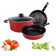 4-In-1 Multipurpose Non-Stick Stainless Steel Cookware Wok Frying Pan Wok Pot (CW-7110)