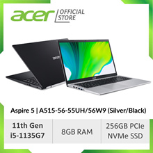 Acer Aspire 5 A515-56-55UH/56W9 (Silver/Black) 15.6-inch FHD Laptop with latest 11th Gen i5-1135G7