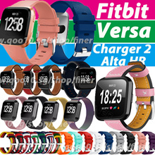 2018 New For Fitbit Versa Fitbit  Alta HR Charge 2 Leather Strap for Fitbit Versa New Sports Strap