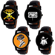 PUBG Squad Watches Combo by Wake Wood (Pack of 4)