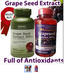 [May Offer][Gr ape Seed Extract Collections] GNC Herbal Plus® Standardized Gr ape Seed Extract 300mg 100 Capsules / Puritans Pride Gr ape Seed Extract 200 mg 120 Capsules