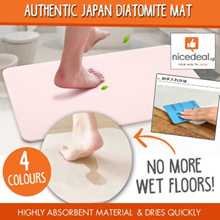 [Must Buy] Authentic Japan Diatomite Mat /high absorbent / Bath floor Mat / Dedicated Anti-Skid