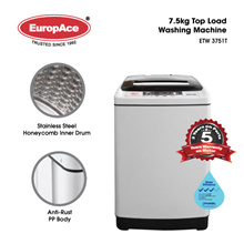*NEW LAUNCH* EuropAce 7.5 KG Top Load Washer - Honeycomb Drum - Free Installation +Disposal*