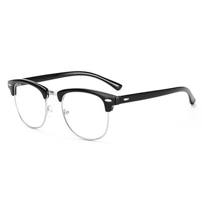 7e820f4e05 Retro Half-framed Glasses Frame Men and Women Classic Decorative Frame  Plain Mirror