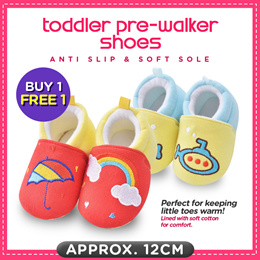 Buy 1 Free 1♥Toddler Pre-walker Shoes♥Baby Booties♥Infant Socks♥ Anti-slip Soft Sole♥ Local seller♥
