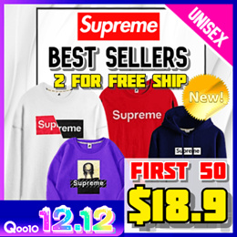 [SUPREME x HOWRU] 남여공용 Supreme 긴팔 티셔츠 / 22 STYLES / 스웨트 셔츠 / 겨울 / 여행