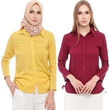 Anita LongSleeves Shirt - Kemeja Wanita Lengan Panjang AllSize