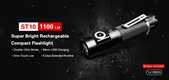 Klarus ST10 USB Rechargeable Compact LED Flashlight