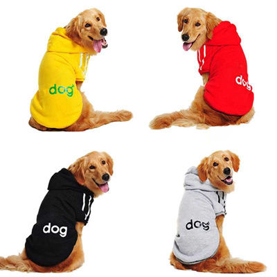 online 2019 New Big Dog Clothes For Golden Retriever Dogs Large Size Winter  Small Dog Coat Hoodie Cl