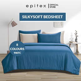 Epitex | New!! SilkySoft Solid Colour 900TC | Fitted Sheet Set | 20 Colours | Bedsheet | Bed Set