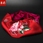 Spring 2017 new embroidery embroidery long Mulberry silk scarves silk scarves women autumn