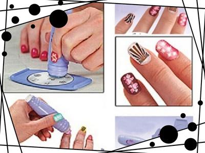 Qoo10 - Salon Nail Art Express Decals Stamp Stamping Polish Design ...
