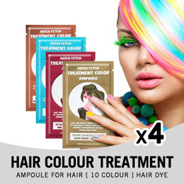 [Bundle of 4]★ PATCH FETCH  Hair Color Treatment Ampoule for hair [10 color] Hair Dye ★