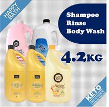 [HAPPY BATH] 4.2kg/free shipping/on the body/elastine/jumbo size/moisture shampoo/rinse/body wash
