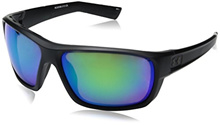 Under Armour Mens Ua Launch Polarized Round Sunglasses, (Ansi) Satin Black Frame / Copper Polarized
