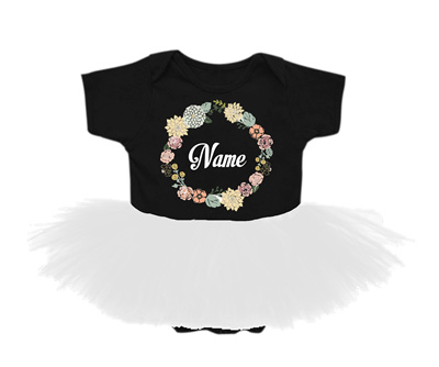 1cd31a0a42e ADD YOUR BABY NAME! PERSONALIZED ADORABLE TUTU ROMPERS BY SHALIZA AMRAN  (FLOWER1 DESIGN EDITION
