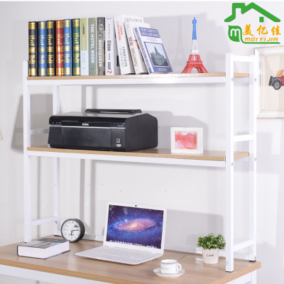 DIY Computer Desktop Table Bookshelf Organizer Wood Rack Shelf Book