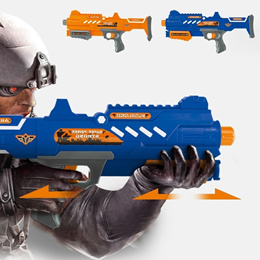 Dual Nerf Blaster Function Gun Toy and Pellet Bullet Safety for Children xzh (Color: Blue)