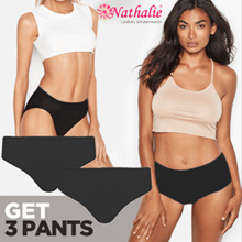 SG [GET 3 PCS] Nathalie Celana Dalam Midi Wanita Dewasa NTC 429
