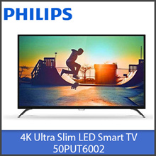 "Philips Smart TVs 50PUT6002 / 50PUT6102 50"" / 55PUT6102 55"" 4K Ultra Slim LED DVB-T/T2"
