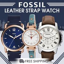 Fossil - Leather Strap Watches - Jam Tangan Pria Wanita - 20 Models - Free Shipping