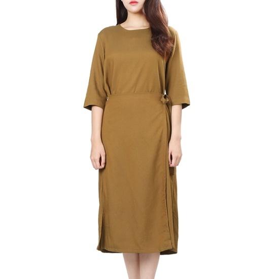 プラスチックアイルランドレップスタイルワンピースPH3WO903 面ワンピース/ 韓国ファッション