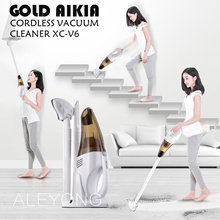 [FREE SHIPPING] GOLD AIKIA-XC-V6  Cordless Vacuum Cleaner.Professional washable Filter improves health and safety.Ultra-quiet. Portable. Wireless charging vacuum cleaner for home use. Remove mites.