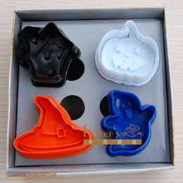 Halloween Cookie Cutters Hello Kitty Miffy Doreamon Winnie Pooh Mickey Stitch Yang Yang Biscuit Vegetable Cutter Pumpkin Witch Cat Ghost Bat