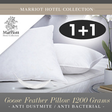 BUNDLE OF 2 Marriott Hotel Collection Goose Feather Pillow 1200 Grams