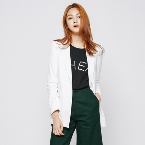ナインNAINルーズフィットテーラード・ジャケットJK1646 面ワンピース/ 韓国ファッション