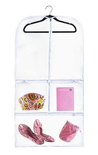 """9945efdba895 Clear Suit and Dress Garment Bag (20"""" x 38"""") Dance, Dress, and Costumes    Hanging Travel Storage for"""
