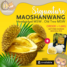 *FRESH* PAHANG THICK CREAMY MaoShanWang Durians FREE Durian Mochi/Strawberry Cheese Mochi 6pcs