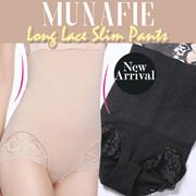 MUNAFIE LONG LACE SLIM PANTS