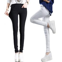 cef82b932e6 Stretchy Pencil Pants 4 Pockets Skinny Pants Black White S to 3XL Plus Size