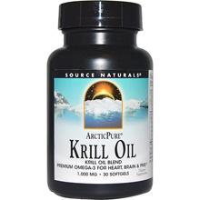 Source Naturals, Arctic Pure, Krill Oil, 1,000 mg, 30 Softgels