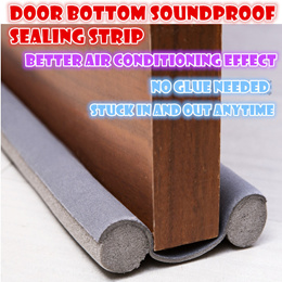 multipurpose Door bottom Soundproof Insulation sealing strip Air-con effect DIY Stuck in free glue