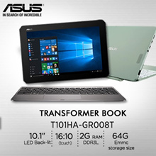 ASUS Transformer Book T101HA-GR008T/ 10.1 LED Back-lit// Intel® Atom™ x5-Z8350// 1 Years Internation