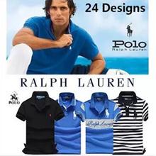 【Sale-Hot Sale Brand 24 Designs】*Custom Fit*100% Cotton Men Polo Shirt 2017  Short