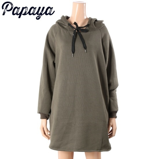 パパイヤフード起毛ワンピースCNHSOP901D 面ワンピース/ 韓国ファッション