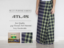 BEST QUALITY ATLAS SARONG / MULTIPURPOSE FOR WOMEN AND MEN / 4250 THREADS (SOFT MATERIAL