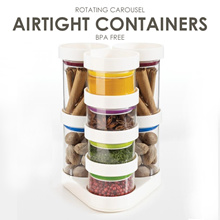 Rotating Carousel Airtight Container BPA Free