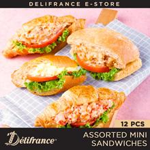 Delifrance Bundle of 12 Assorted Mini Sandwiches