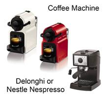 [DeLonghi]Coffee Machine EC152J / NestleNespresso C40RE Capsule Coffee Machine / Red and White