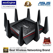 Asus RT-AC5300 ROG Rapture Wireless-AC5300 Tri-Band Gaming Router  - Local Asus 3yrs Warranty